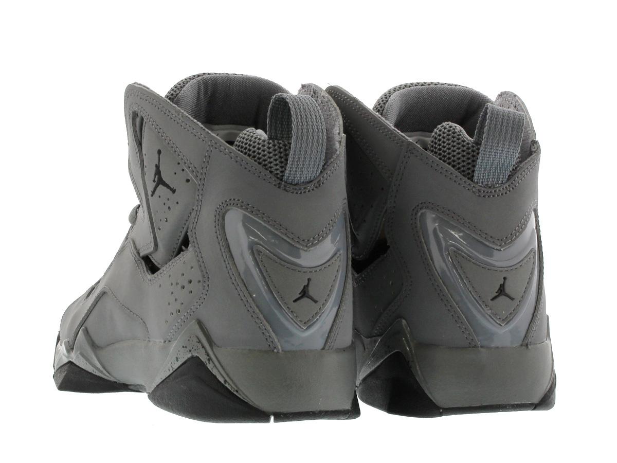 02ad5b248d0202 NIKE JORDAN TRUE FLIGHT GS Nike Jordan toe roof light GS COOL GREY BLACK