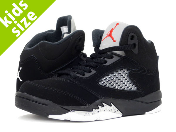 【キッズサイズ】【16-22cm】 NIKE AIR JORDAN 5 RETRO OG BP ナイキ エア ジョーダン 5 レトロ OG BP BLACK/FIRE RED/METALLIC SILVER 440889-003