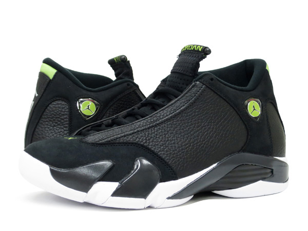4b450e6b9898d3 ... norway nike air jordan 14 retro black white vivid green indiglo 7a61d  b9ae7