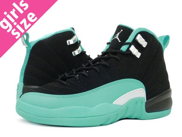 7b1b9728d110e NIKE AIR JORDAN 12 RETRO GG Nike Air Jordan 12 nostalgic GG BLACK METALLIC  SILVER HYPER JADE