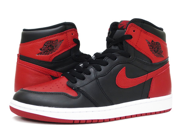 wholesale dealer 9db20 dfc5a NIKE AIR JORDAN 1 RETRO HIGH OG BLACK VARSITY RED WHITE  BRED