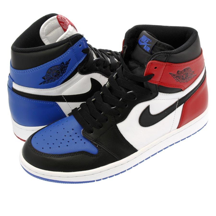 NIKE AIR JORDAN 1 RETRO HIGH OG Nike Air Jordan 1 nostalgic high OG  BLACK VARSITY RED VARSITY ROYAL 648149b7031