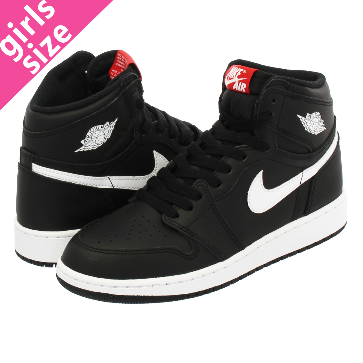 b0351a04966115 SELECT SHOP LOWTEX  NIKE AIR JORDAN 1 RETRO HIGH OG GS BLACK WHITE ...