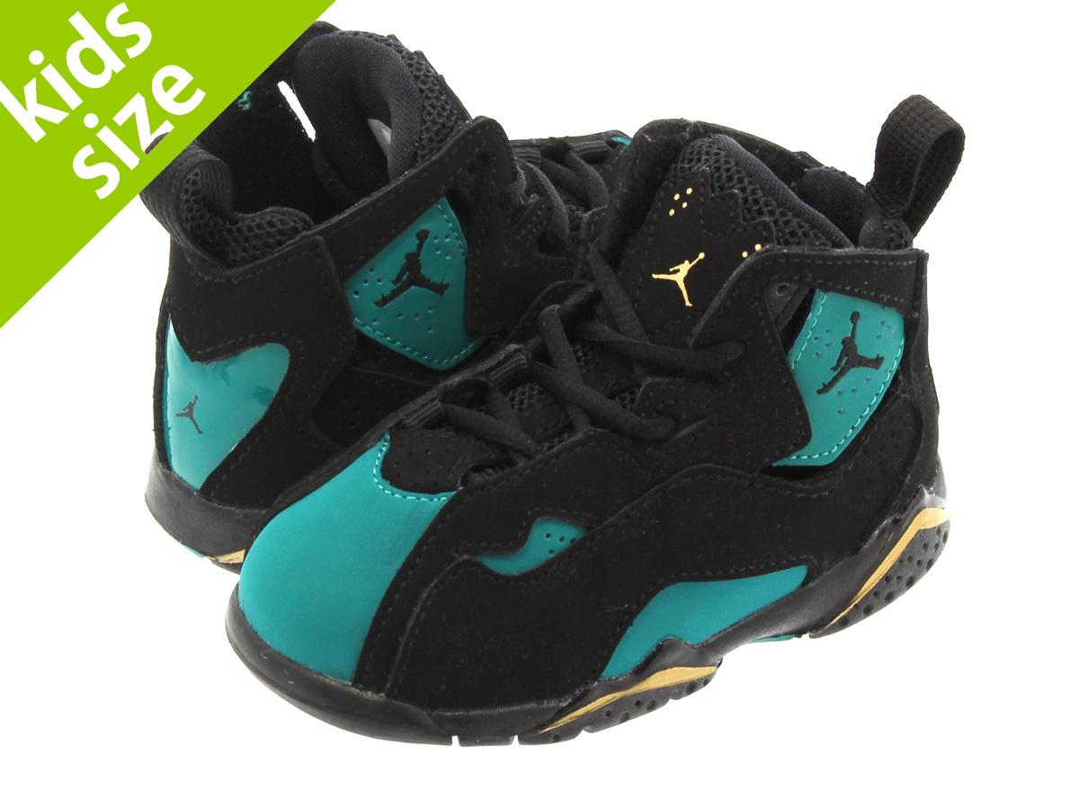 5bd320fb890e NIKE JORDAN TRUE FLIGHT TD Nike Air Jordan toe roof light TD BLACK RIO  TEAL METALLIC GOLD