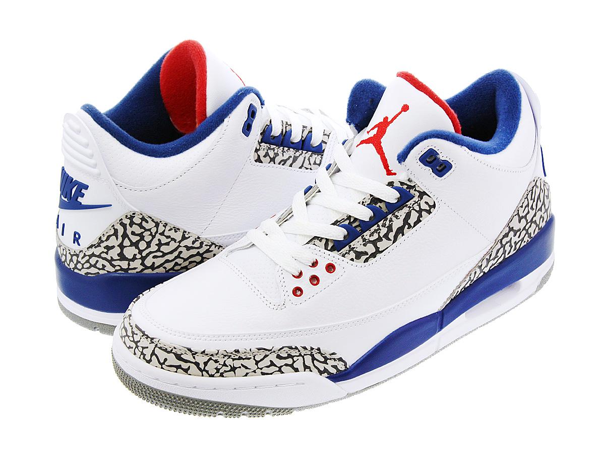 brand new c5f1b 7dc1d NIKE AIR JORDAN 3 RETRO OG Nike Air Jordan 3 nostalgic OG WHITE FIRE RED TRUE  BLUE CEMENT GREY