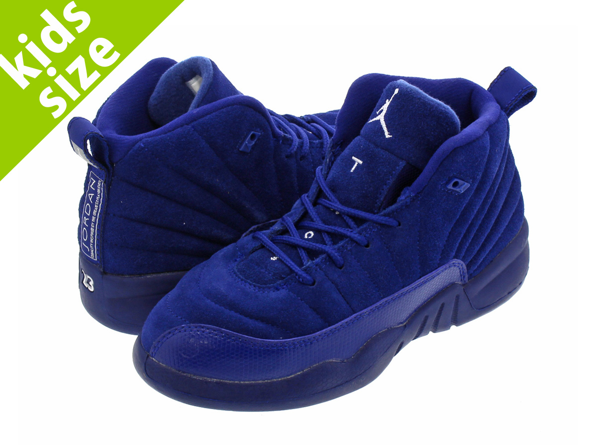 【キッズ サイズ】【16cm-22cm】 NIKE AIR JORDAN 12 RETRO PS ナイキ エア ジョーダン 12 レトロ PS DEEP ROYAL BLUE/METALLIC SILVER/WHITE 151186-400