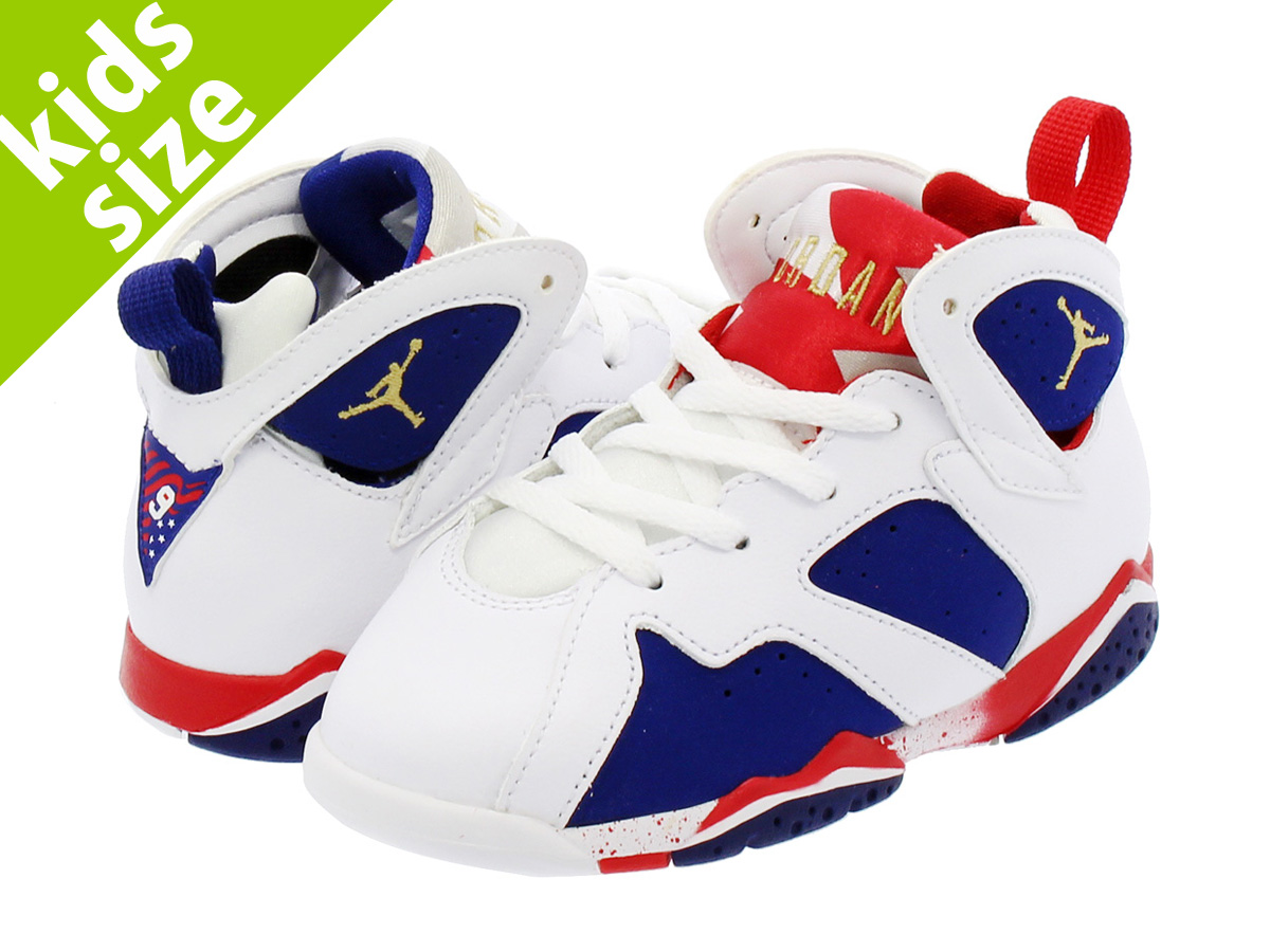 half off 63304 960a5 NIKE AIR JORDAN 7 RETRO BT Nike Air Jordan 7 nostalgic BT WHITE/METALLIC  GOLD/ROYAL BLUE/INFRARED