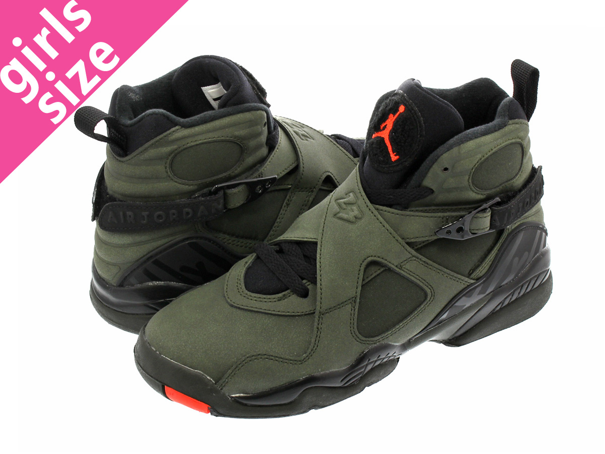 8bd7cccf99ea35 NIKE AIR JORDAN 8 RETRO GS Nike Air Jordan 8 nostalgic GS  SEQUOIA BLACK WOLF GREY MAX ORANGE
