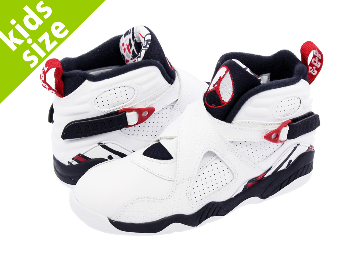 a7849a6fd16561 NIKE AIR JORDAN 8 RETRO BP Nike Air Jordan 8 nostalgic BP WHITE GYM  RED BLACK WOLF GREY