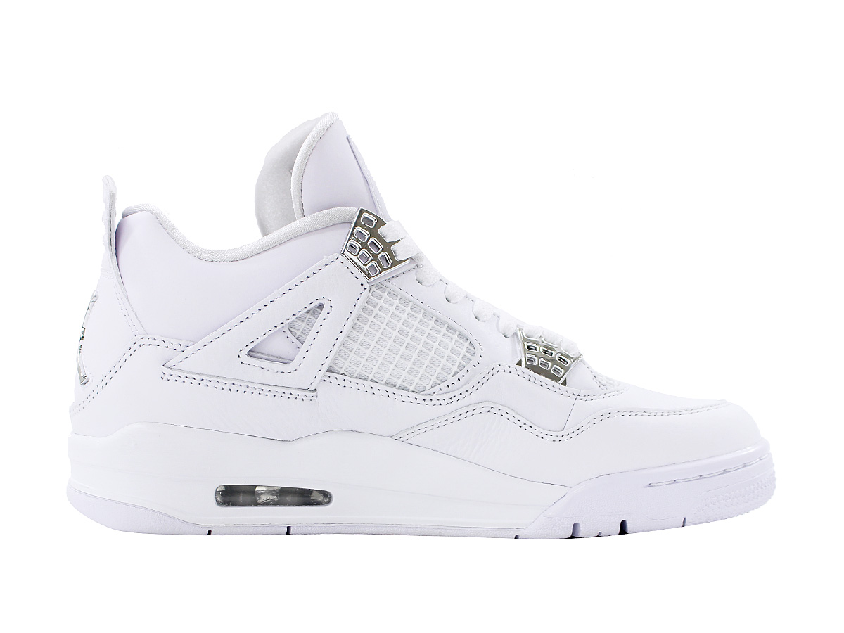 cf37c906a2a ... NIKE AIR JORDAN 4 RETRO Nike Air Jordan 4 nostalgic WHITE METALLIC  SILVER PURE PLATINUM ...