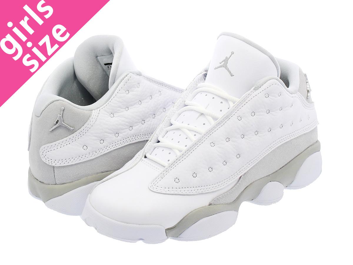 watch 0b763 dc68a NIKE AIR JORDAN 13 RETRO LOW BG Nike Air Jordan 13 nostalgic low BG WHITE METALLIC  SILVER PURE PLATINUM