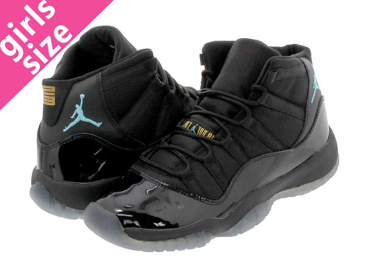low priced b3d0c 5a225 NIKE AIR JORDAN 11 RETRO GS Nike Air Jordan 11 nostalgic BLACK GAMMA BLUE MAZE  378,038-006