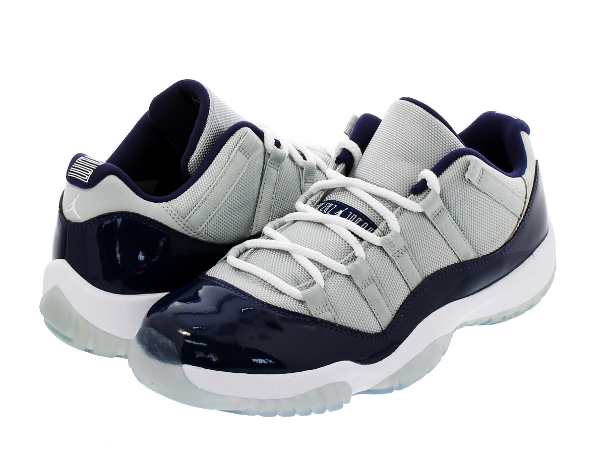 NIKE AIR JORDAN 11 RETRO LOW 【GEORGETOWN】 ナイキ エア ジョーダン 11 レトロ ロー GREY MIST/WHITE/MIDNIGHT NAVY 528895-007