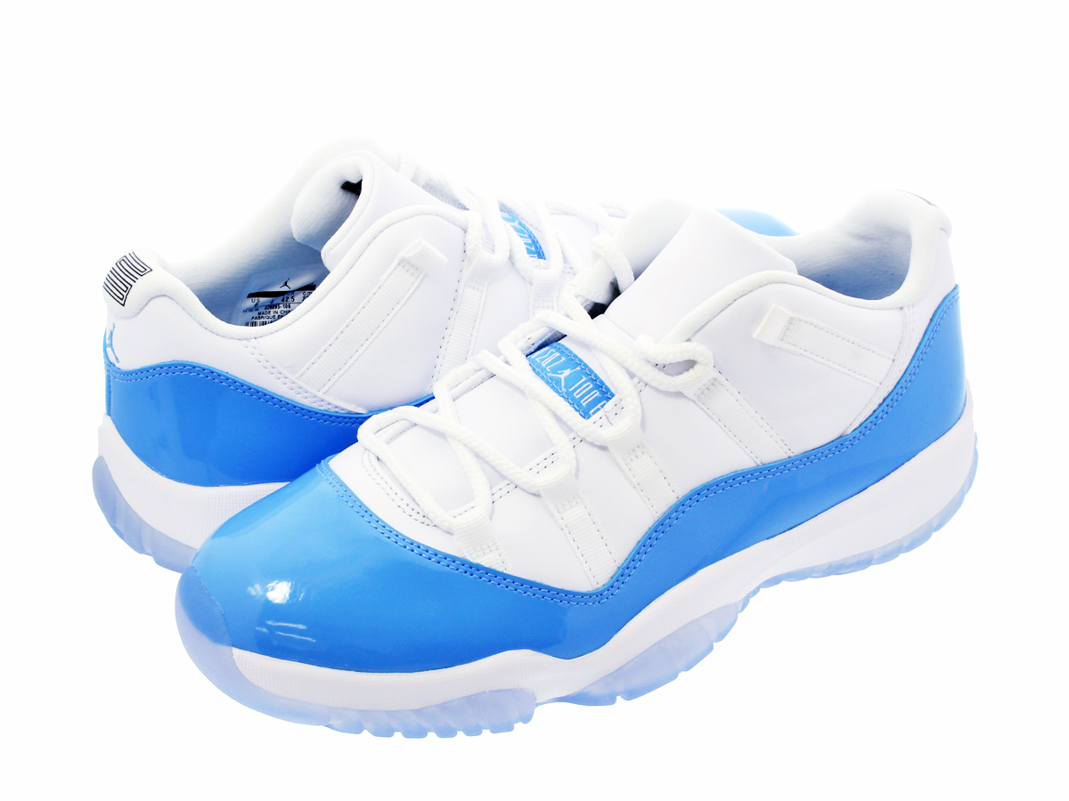 huge discount fc048 8f594 NIKE AIR JORDAN 11 RETRO LOW Nike Air Jordan 11 nostalgic low WHITE UNIVERSITY  BLUE