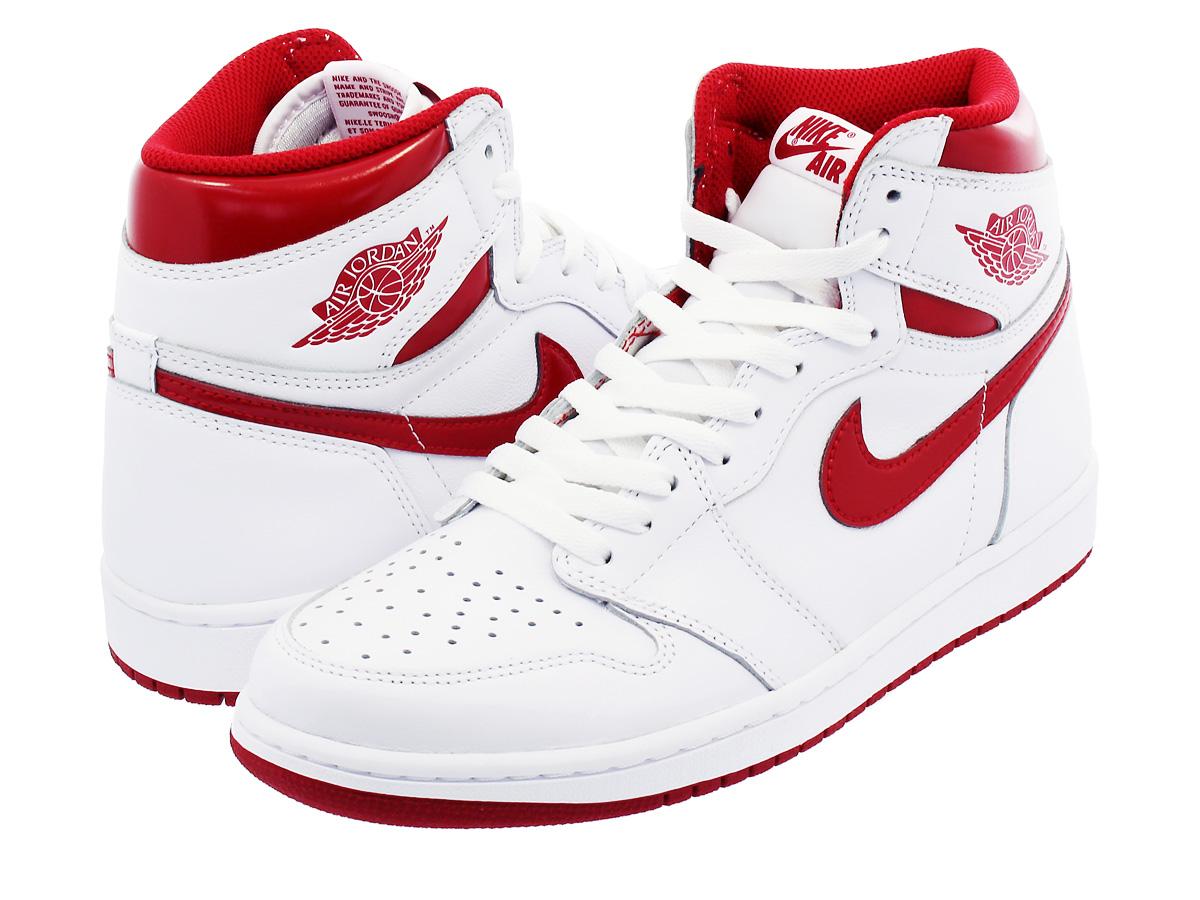 a6e42b4f098cc1 NIKE AIR JORDAN 1 RETRO HIGH OG Nike Air Jordan 1 nostalgic high OG WHITE VARSITY  RED