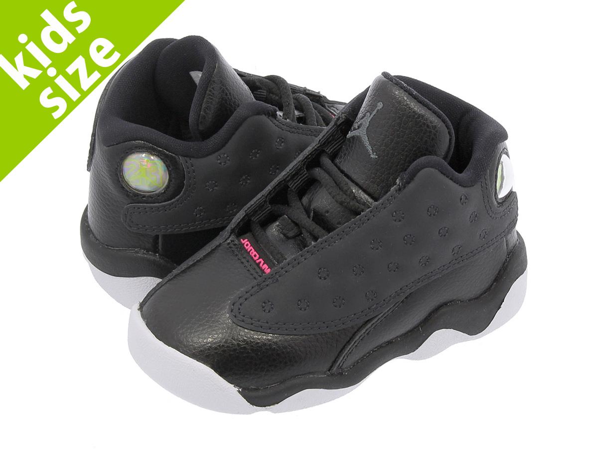 af5f3fc6bea193 ... NIKE AIR JORDAN 13 RETRO TD Nike Air Jordan 13 nostalgic TD BLACK  ANTHRACITE HYPER PINK ...