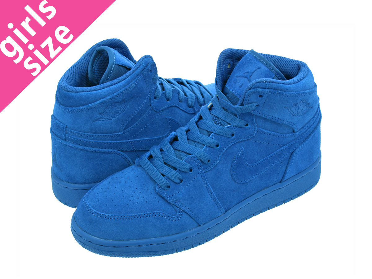 30abe2378731 NIKE AIR JORDAN 1 RETRO HIGH BG Nike Air Jordan 1 nostalgic high BG TEAM  ROYAL TEAM ROYAL