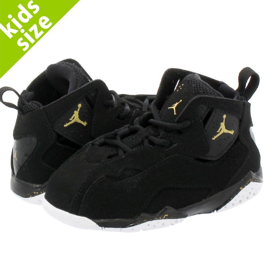 aa496ec9afea NIKE JORDAN TRUE FLIGHT TD Nike Jordan toe roof light TD  BLACK WHITE METALLIC GOLD