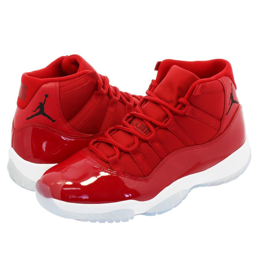 NIKE AIR JORDAN 11 RETRO Nike Air Jordan 11 nostalgic GYM RED WHITE BLACK 20661c55a06