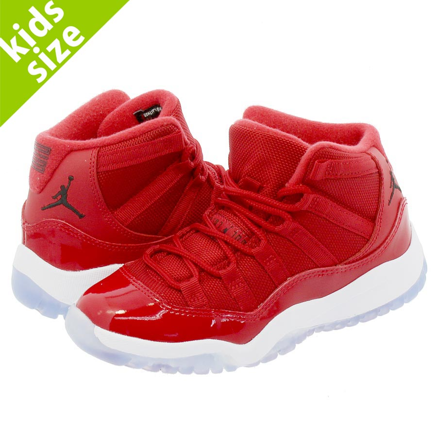 【キッズサイズ】【16-22cm】 NIKE AIR JORDAN 11 RETRO BP 【WIN LIKE '96】 ナイキ エア ジョーダン 11 レトロ PS GYM RED/BLACK/WHITE 378039-623
