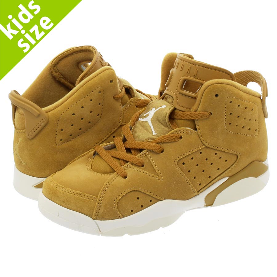 【キッズ サイズ】【16cm-22cm】 NIKE AIR JORDAN 6 RETRO PS ナイキ エア ジョーダン 6 レトロ PS GOLDEN HARVEST/GOLDEN HARVEST/SAIL 384666-705