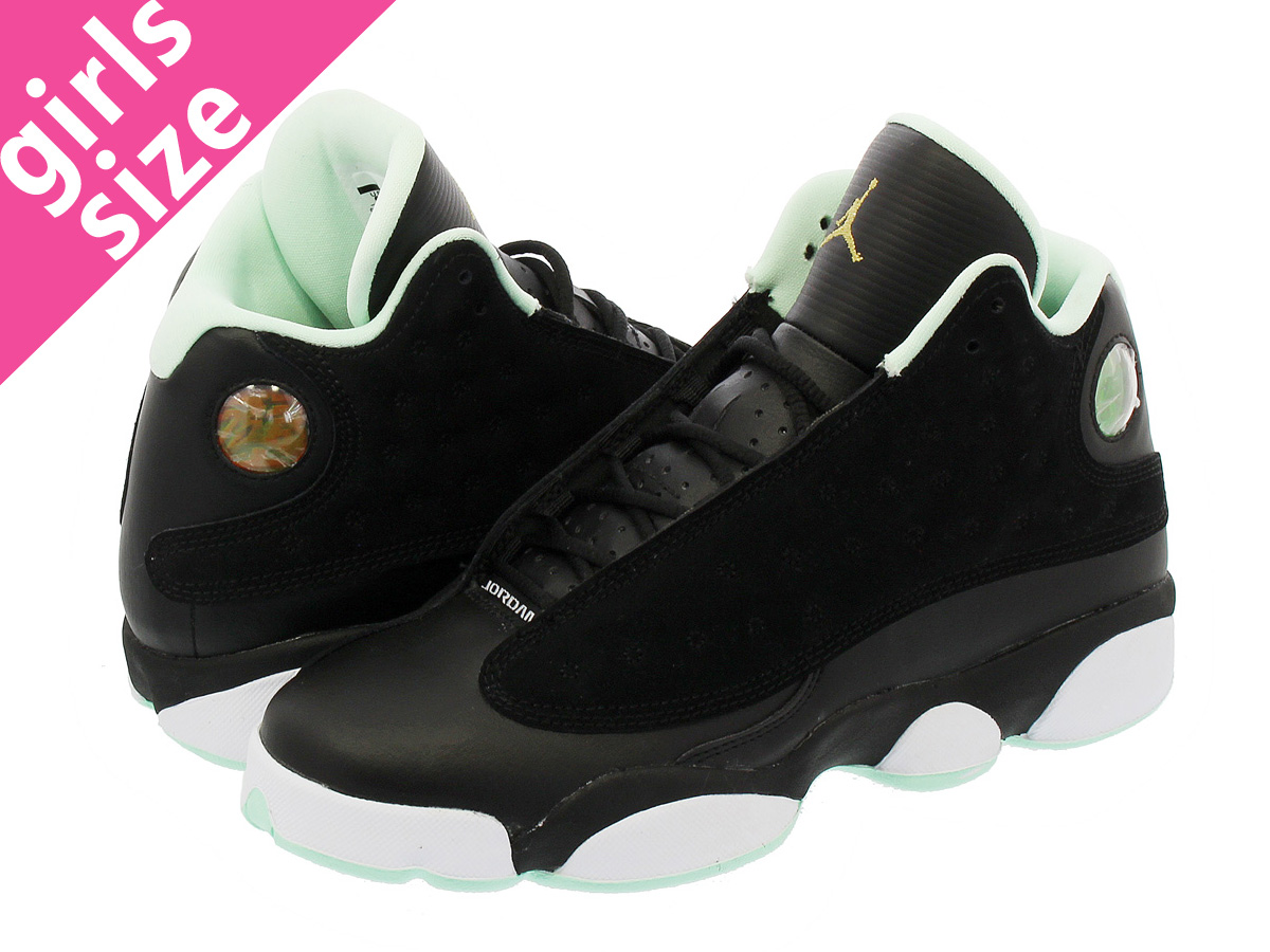 1e8a36f2ab9cea NIKE AIR JORDAN 13 RETRO GG Nike Air Jordan 13 nostalgic GG BLACK METALLIC  GOLD MINT FOAM 439