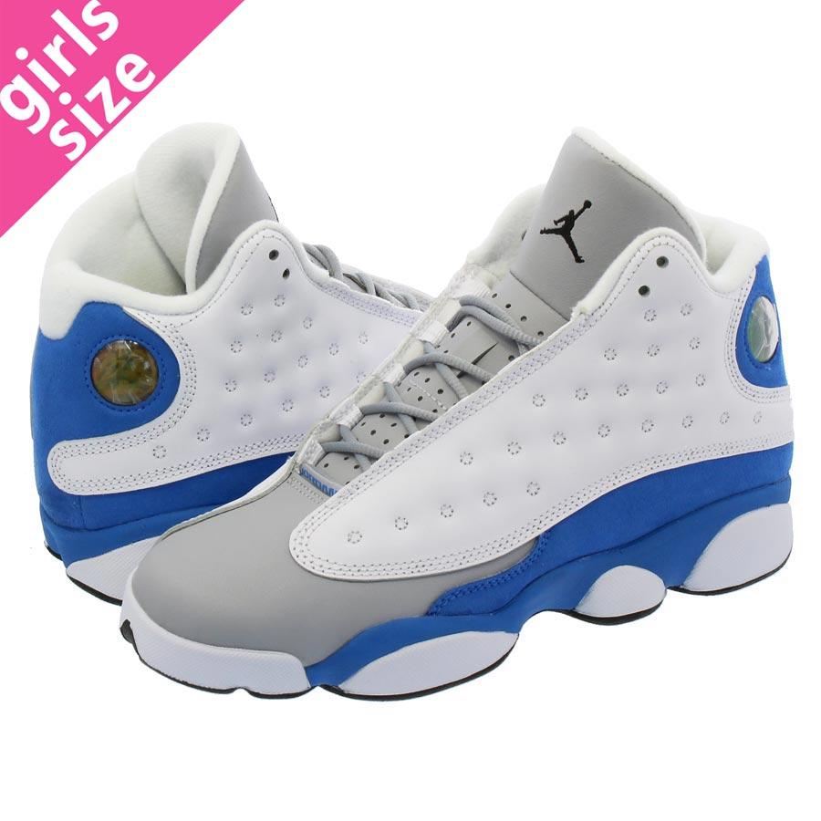 super popular c5a43 db00f NIKE AIR JORDAN 13 RETRO GG Nike Air Jordan 13 nostalgic GG WHITE ITALY BLUE WOLF  GREY 439,358-107
