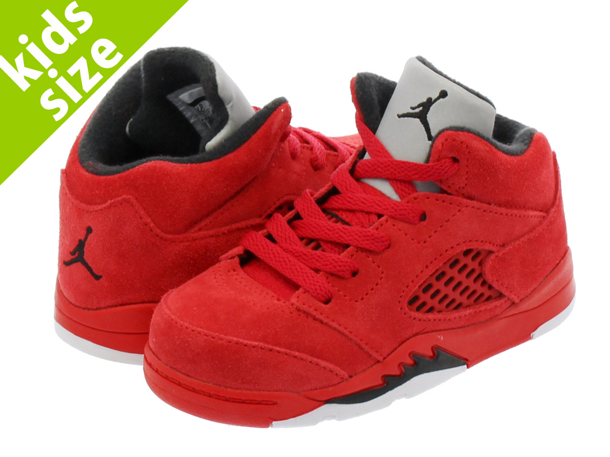 【ベビーサイズ】【8-16cm】 NIKE AIR JORDAN 5 RETRO BT ナイキ エア ジョーダン 5 レトロ BT UNIVERSITY RED/BLACK/UNIVERSITY RED 440890-602