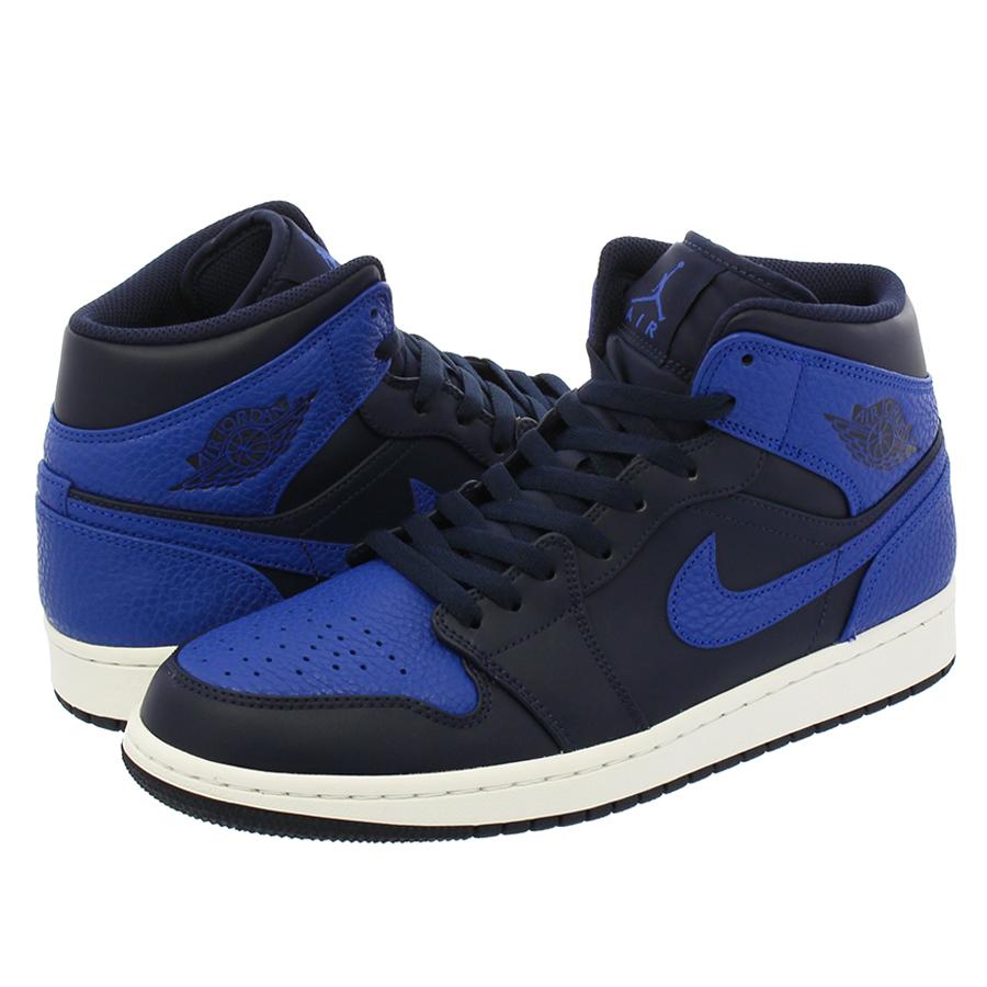 d1c070ddbad47f NIKE AIR JORDAN 1 MID Nike Air Jordan 1 mid OBSIDIAN GAME ROYAL SUMMIT WHITE