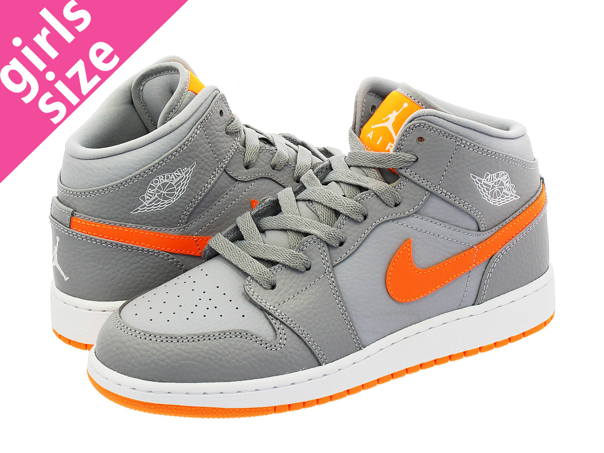 305f8077956 ... shopping nike air jordan 1 mid bg nike air jordan 1 mid bg wolf grey  bright
