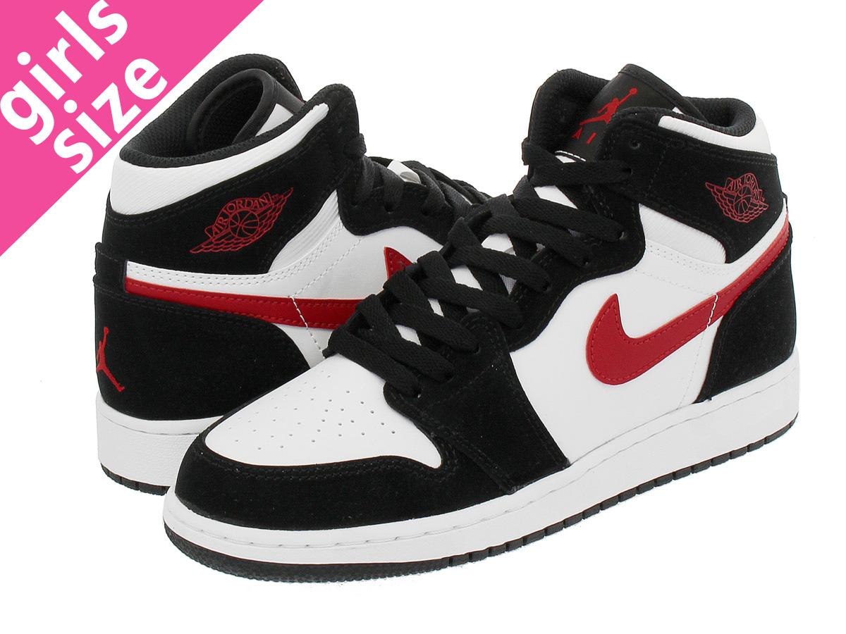 95c7d7c8fb921 NIKE AIR JORDAN 1 RETRO HIGH BG Nike Air Jordan 1 nostalgic high BG BLACK GYM  RED WHITE