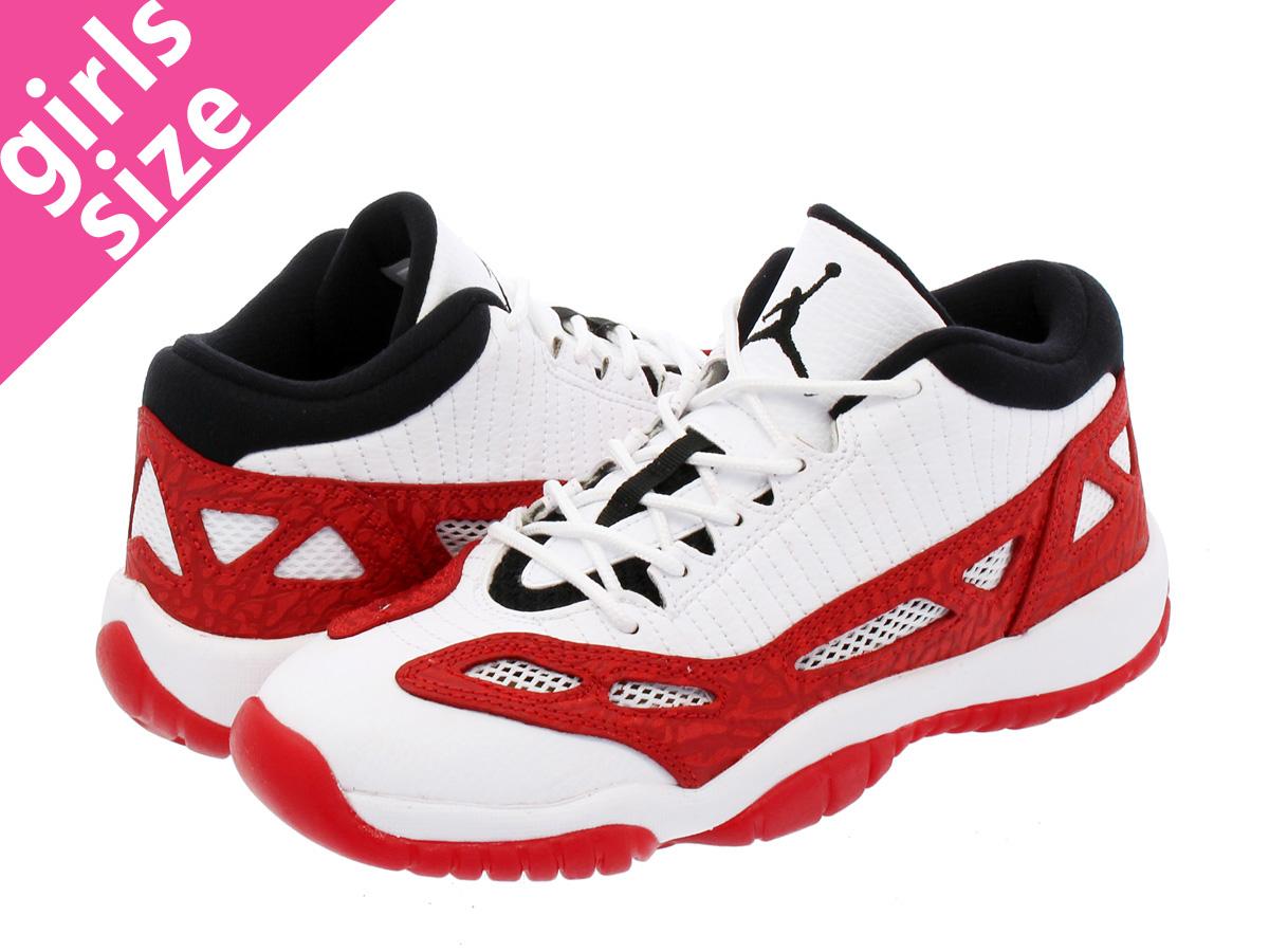 7d8f1fad792 NIKE AIR JORDAN 11 RETRO LOW IE GS Nike Air Jordan 11 nostalgic low IE GS  WHITE GYM RED BLACK