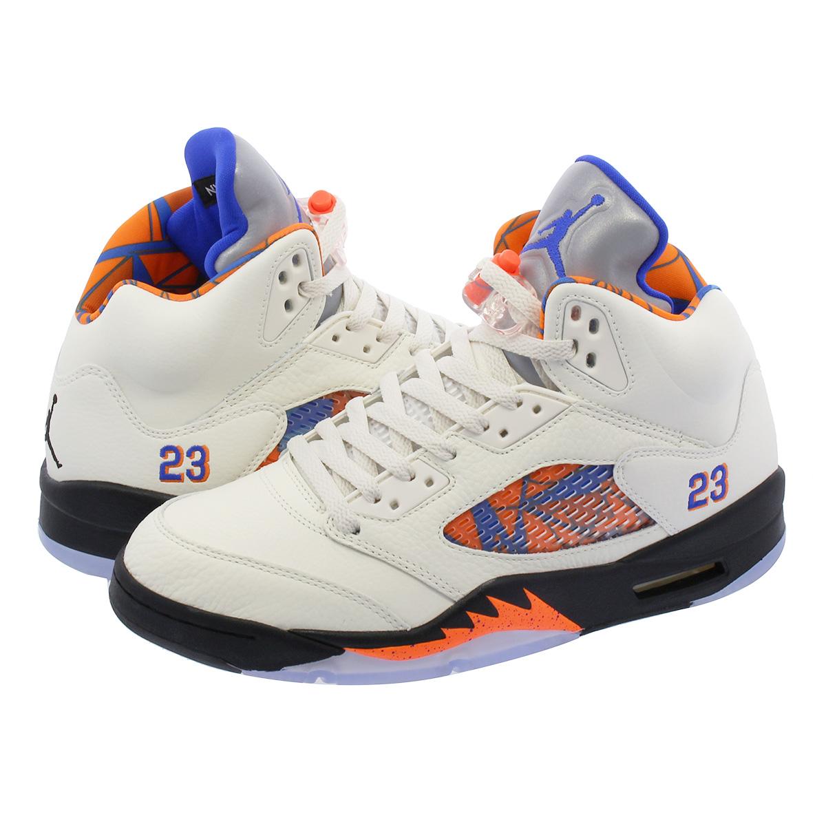best sneakers 6c578 85861 NIKE AIR JORDAN 5 RETRO Nike Air Jordan 5 nostalgic SAIL/RACER  BLUE/CONE/BLACK 136,027-148
