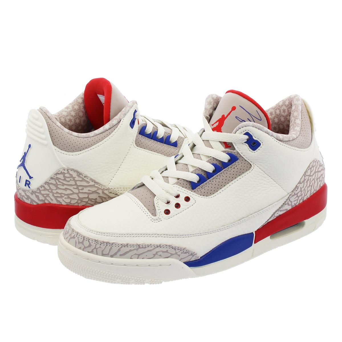 36c5efb3011 NIKE AIR JORDAN 3 RETRO Nike Air Jordan 3 nostalgic SAIL/SPORT ROYAL/FIRE  RED 136,064-140