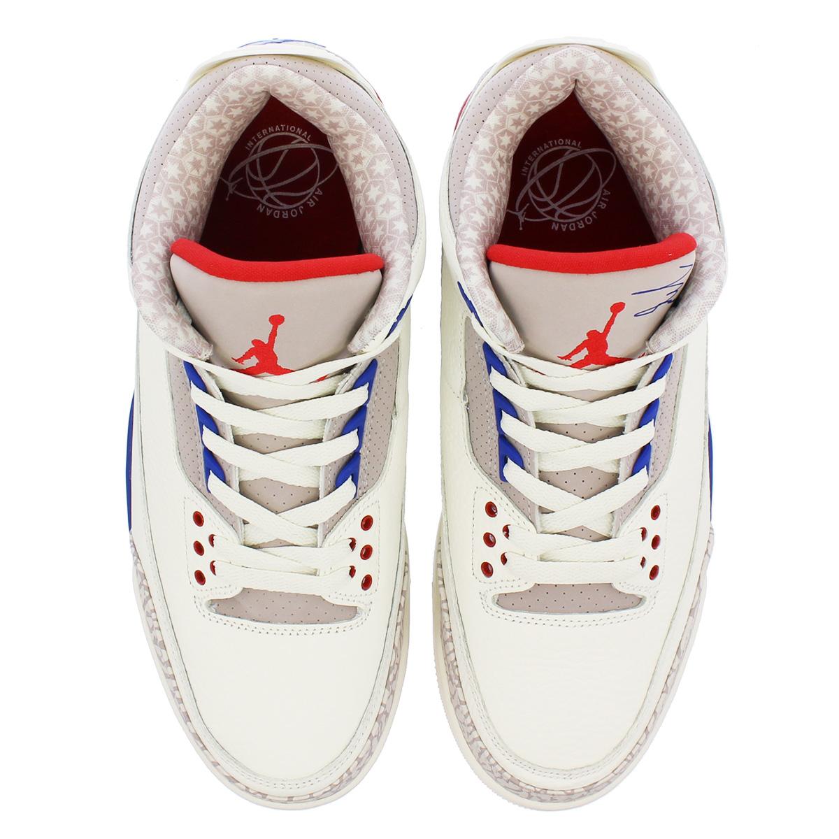 f84fd3a0568e NIKE AIR JORDAN 3 RETRO Nike Air Jordan 3 nostalgic SAIL SPORT ROYAL FIRE  RED 136