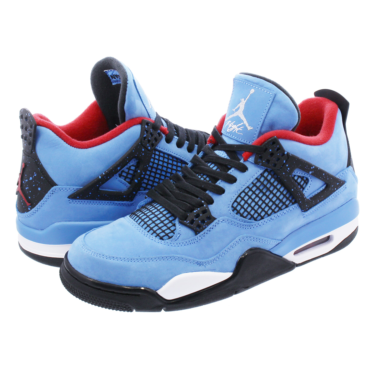 official photos 6b3a3 61c0d NIKE AIR JORDAN 4 RETRO Nike air Jordan 4 nostalgic Travis Scot UNIVERSITY  BLUE/VARSITY RED/BLACK 308,497-406