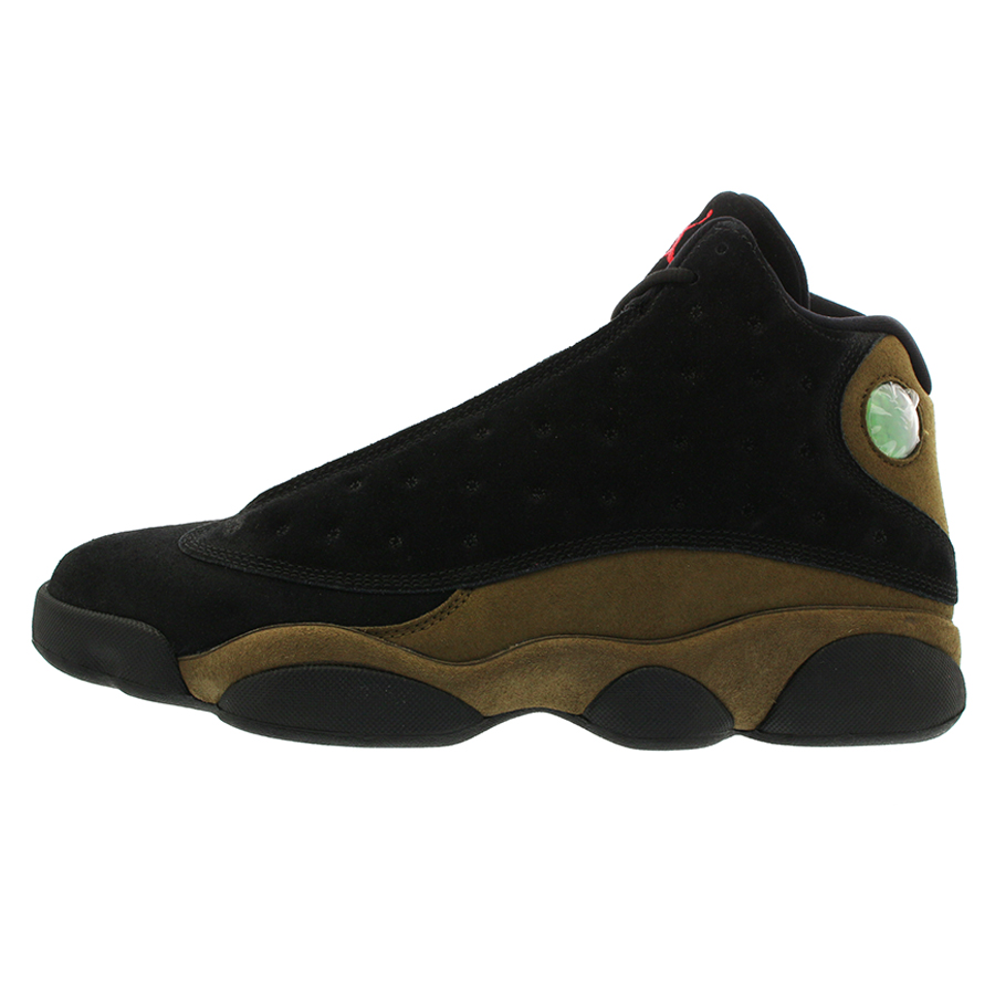 c541c755505e NIKE AIR JORDAN 13 RETRO Nike Air Jordan 13 nostalgic BLACK TRUE RED LIGHT  OLIVE WHITE 414