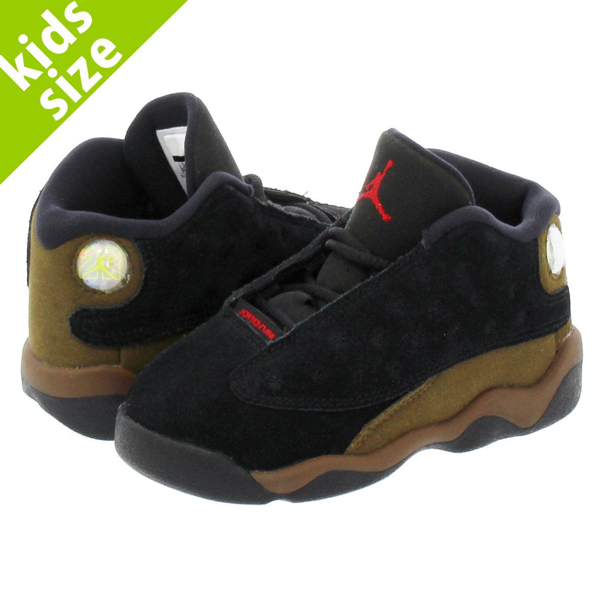 info for ad346 5d74c NIKE AIR JORDAN 13 RETRO BT Nike Air Jordan 13 nostalgic BT BLACK/TRUE  RED/LIGHT OLIVE/WHITE
