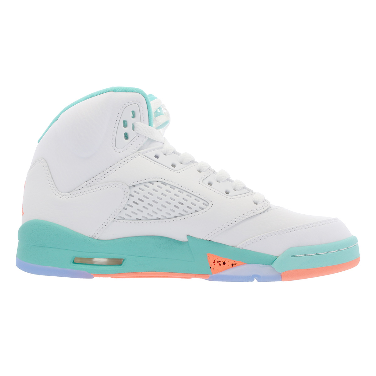 competitive price 0781c 6f08c NIKE AIR JORDAN 5 RETRO GG Nike air Jordan 5 nostalgic GG WHITE/CRIMSON  PULSE/LIGHT AQUA/BLACK