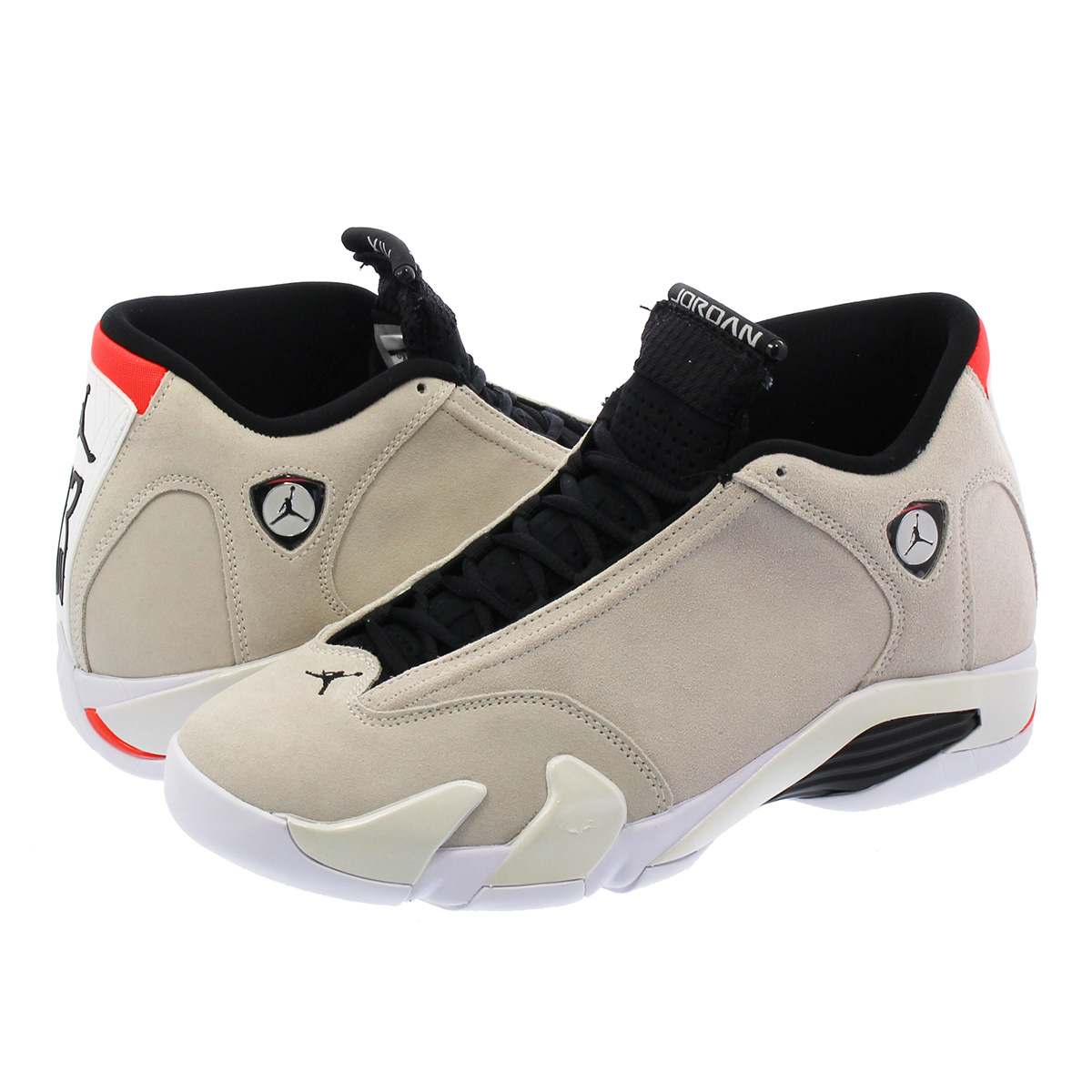 buy popular 74594 000e3 NIKE AIR JORDAN 14 RETRO Nike Air Jordan 14 nostalgic DESERT  SAND/BLACK/WHITE/INFRARED 23 487,471-021