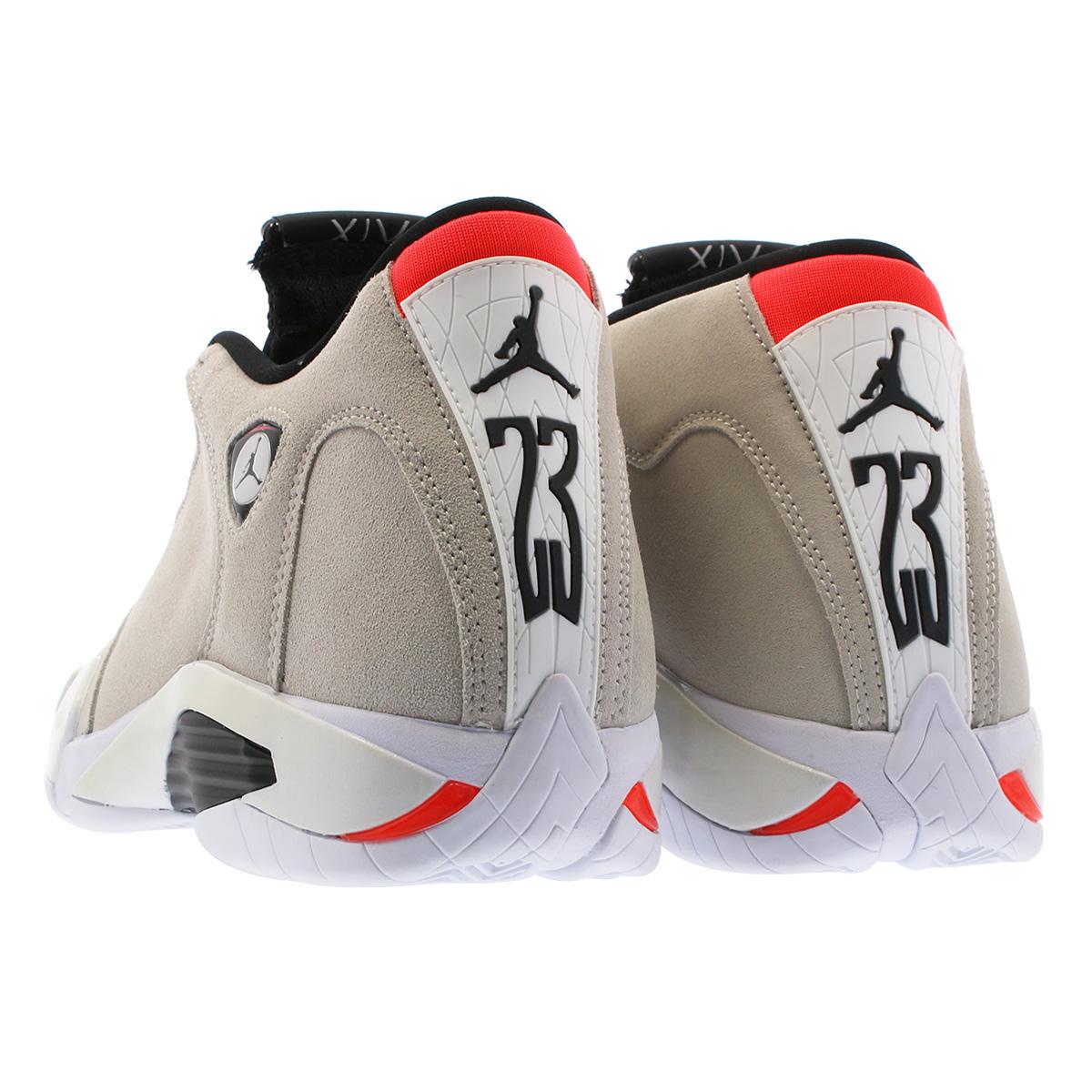 9c99889694ea NIKE AIR JORDAN 14 RETRO Nike Air Jordan 14 nostalgic DESERT SAND BLACK  WHITE INFRARED 23 487