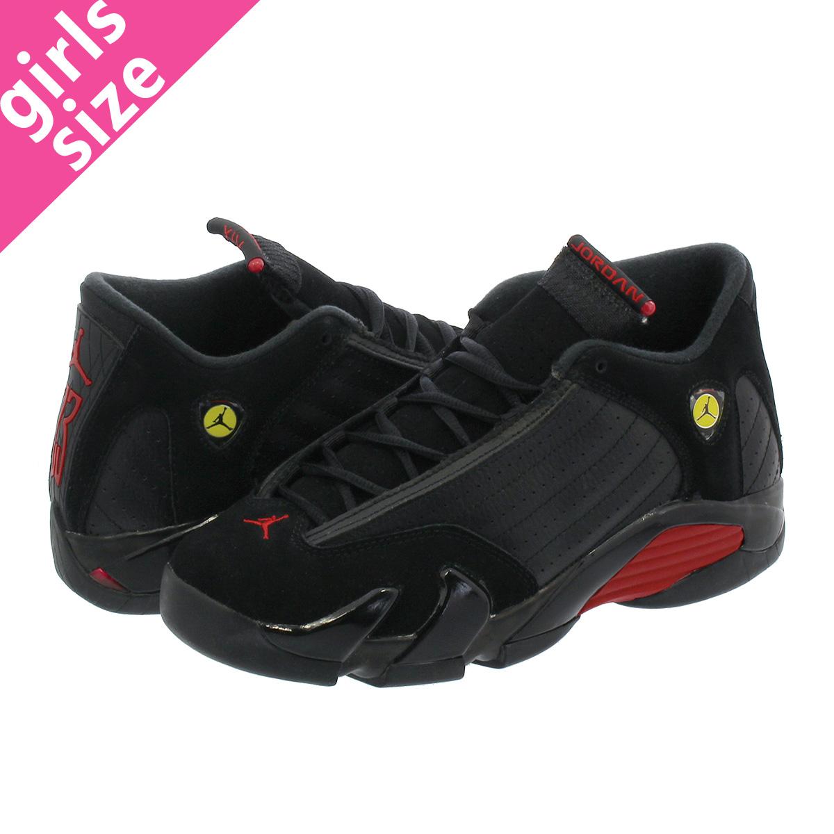 pretty nice 98fe9 c7c69 NIKE AIR JORDAN 14 RETRO BG Nike Air Jordan 14 nostalgic BG BLACK/VARSITY  RED