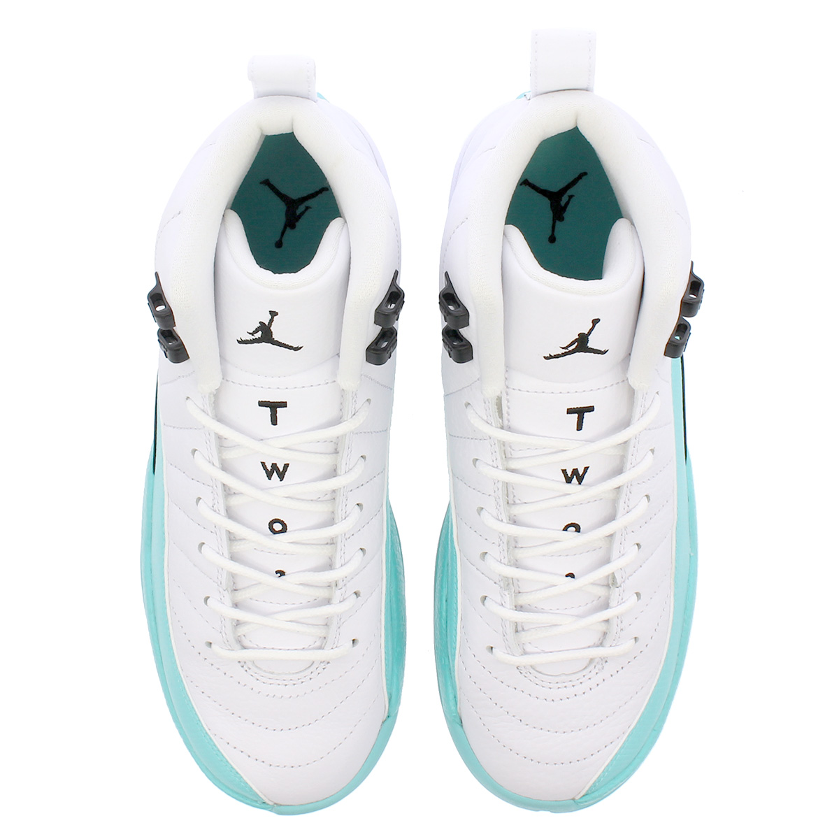 9028b3306a37e5 NIKE AIR JORDAN 12 RETRO GG Nike Air Jordan 12 nostalgic GG WHITE LIGHT AQUA  BLACK 510