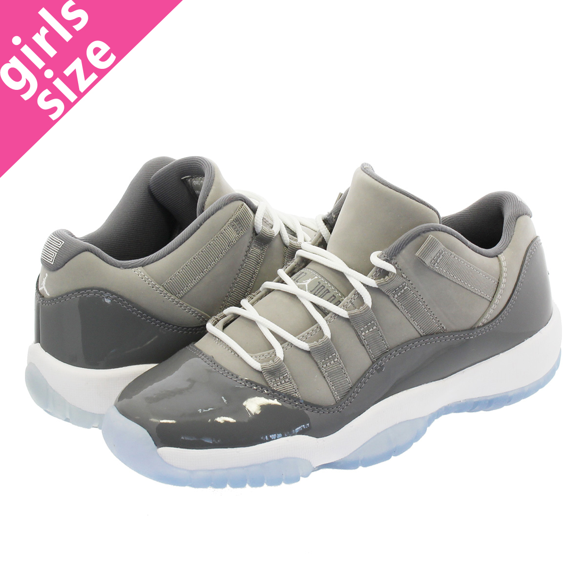 f08c02980e4f NIKE AIR JORDAN 11 RETRO LOW BG Nike Air Jordan 11 nostalgic low BG MEDIUM  GREY GUMSMOKE WHITE 528