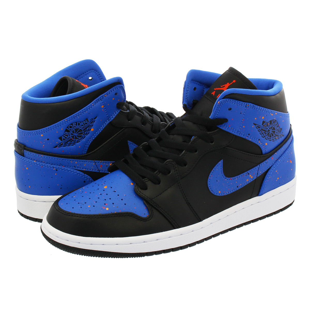 official photos d082a 20662 NIKE AIR JORDAN 1 MID Nike Air Jordan 1 mid BLACK SIGNAL BLUE ORANGE ...