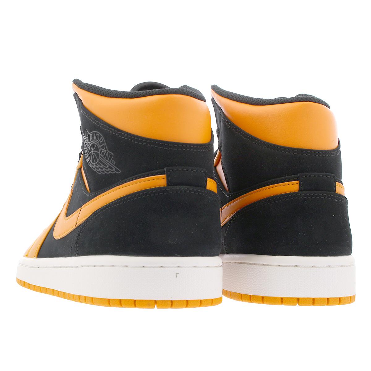 new style 3f076 292f9 NIKE AIR JORDAN 1 MID Nike Air Jordan 1 mid BLACK ORANGE PEEL SAIL 554,724- 081