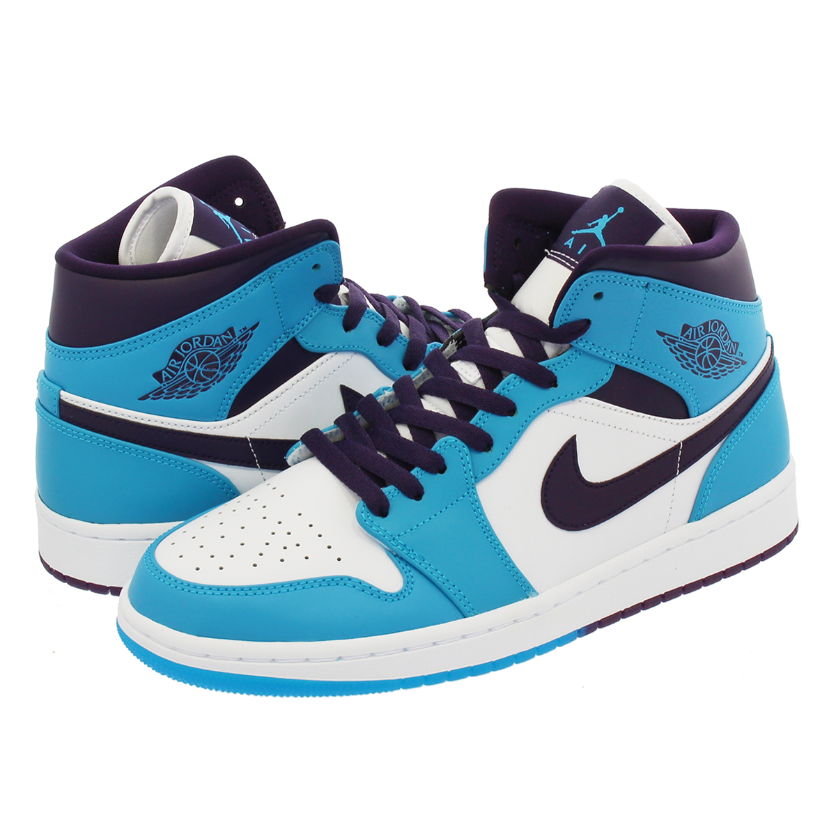 san francisco b7705 2c190 NIKE AIR JORDAN 1 MID Nike Air Jordan 1 mid BLUE LAGOON GRAND PURPLE  ...