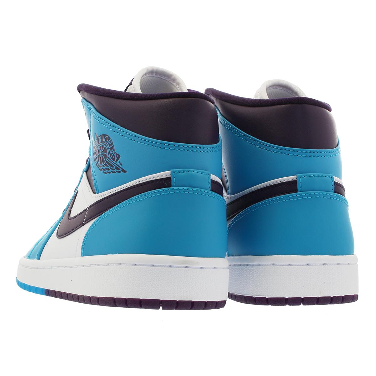 the latest c87ae 16cd7 NIKE AIR JORDAN 1 MID Nike Air Jordan 1 mid BLUE LAGOON GRAND PURPLE WHITE
