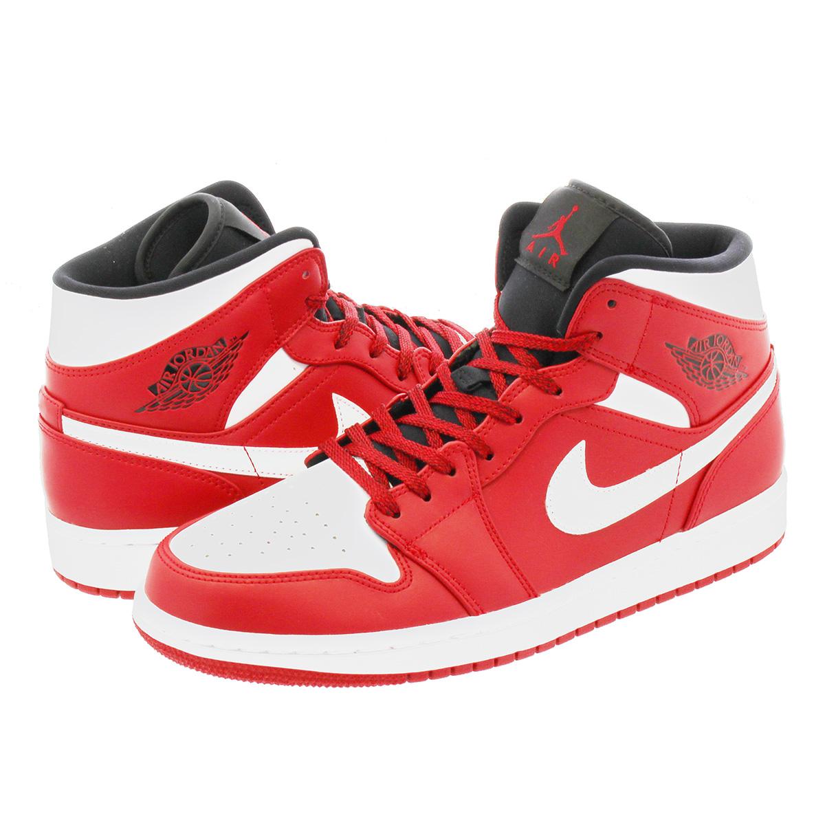 watch e2942 4211d NIKE AIR JORDAN 1 MID Nike Air Jordan 1 mid GYM RED/WHITE 554,724-605