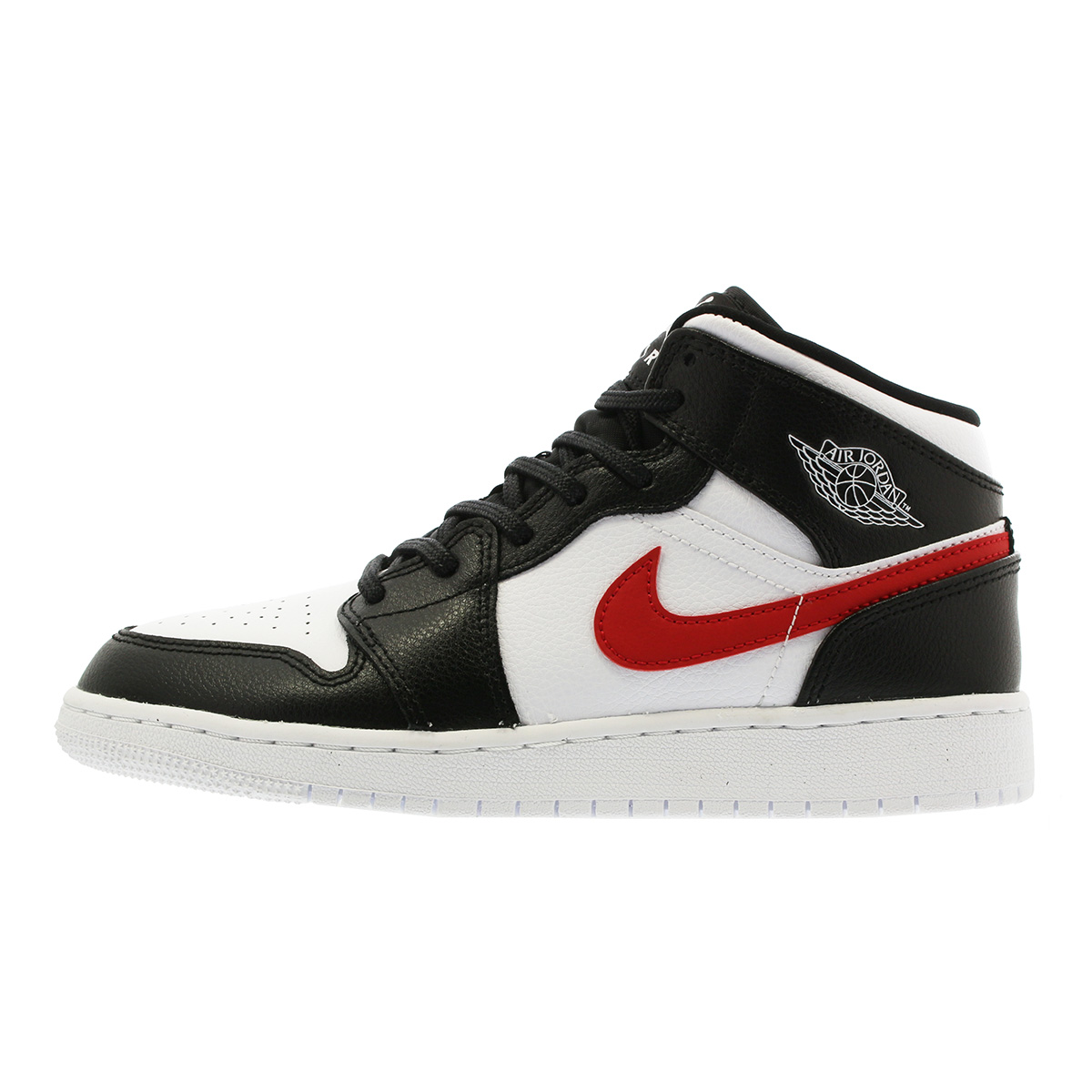 NIKE AIR JORDAN 1 MID BG Nike Air Jordan 1 mid BG BLACK WHITE RED YELLOW BLUE GREEN  554 b911862a3